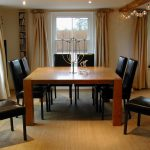 a dining table